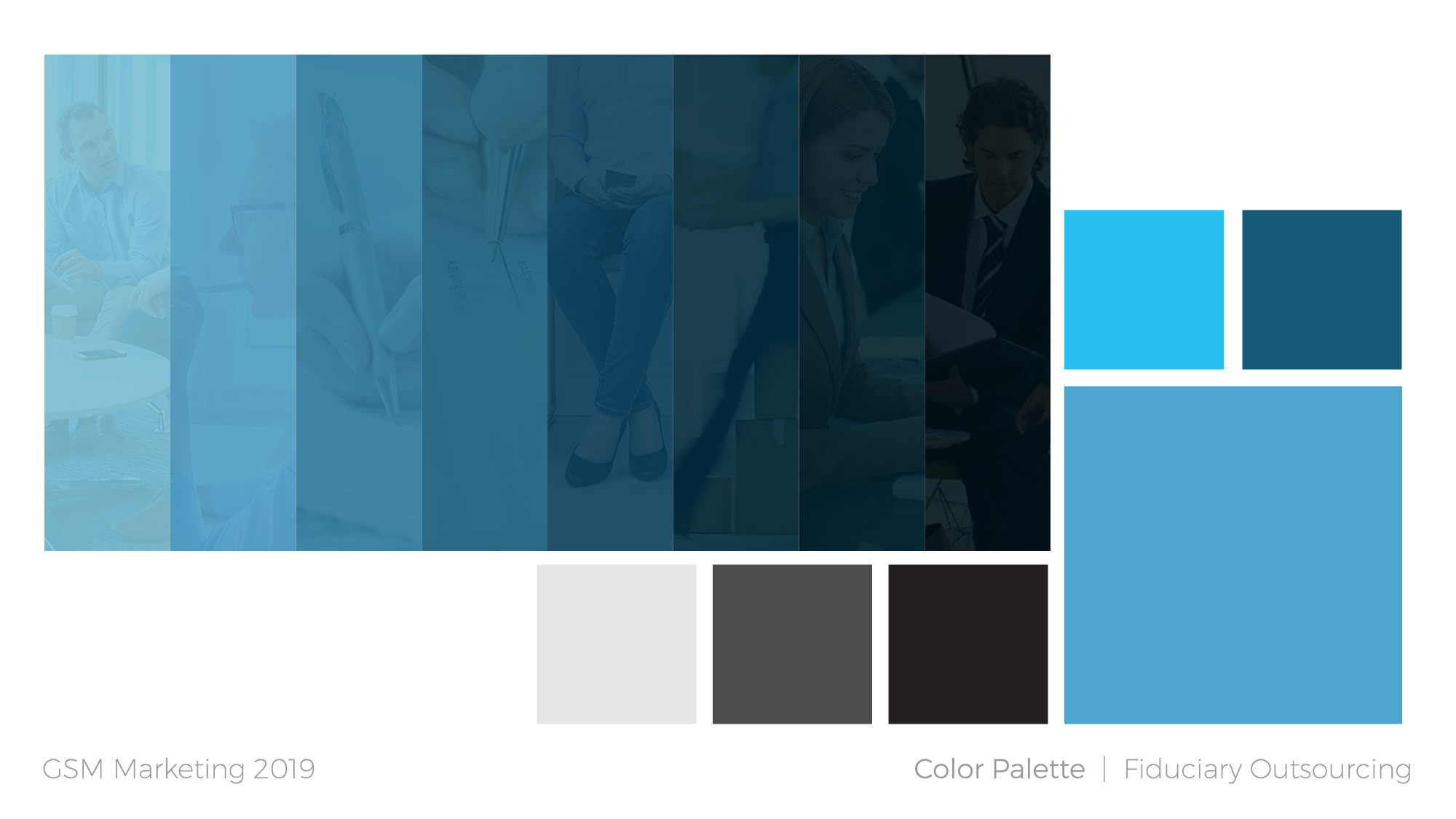 Fiduciary Outsourcing brand color palette plan
