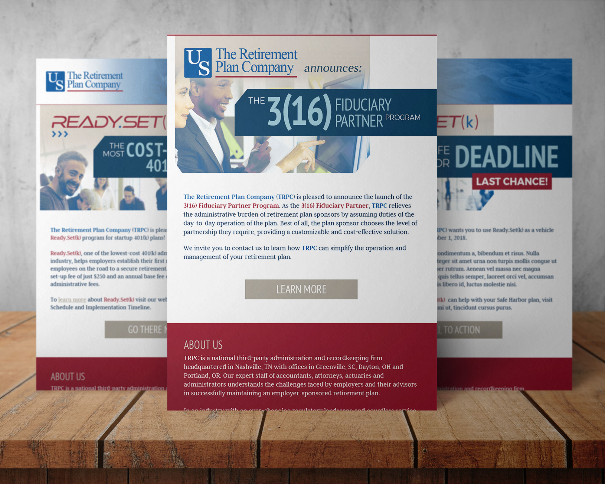 TRPC custom email campaign designs