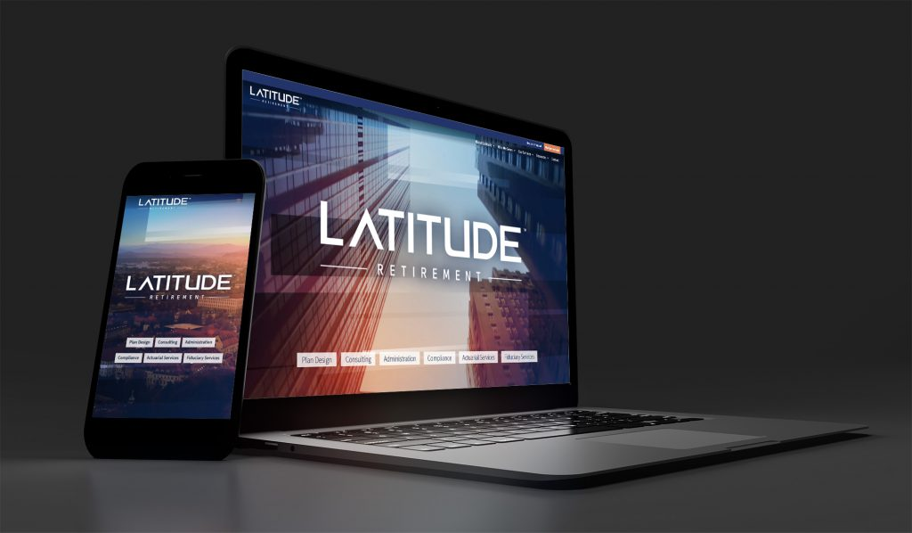 Latitude website displayed on a laptop and smartphone