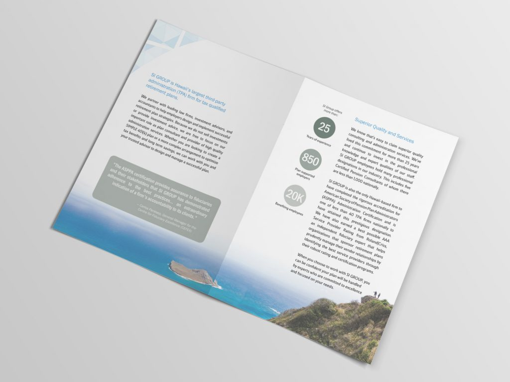SI Group brochure interior