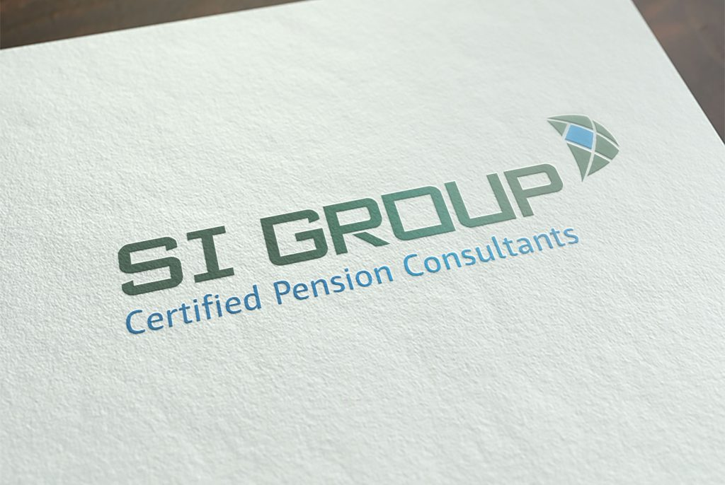 S.I. Group logo printed on fancy matte paper