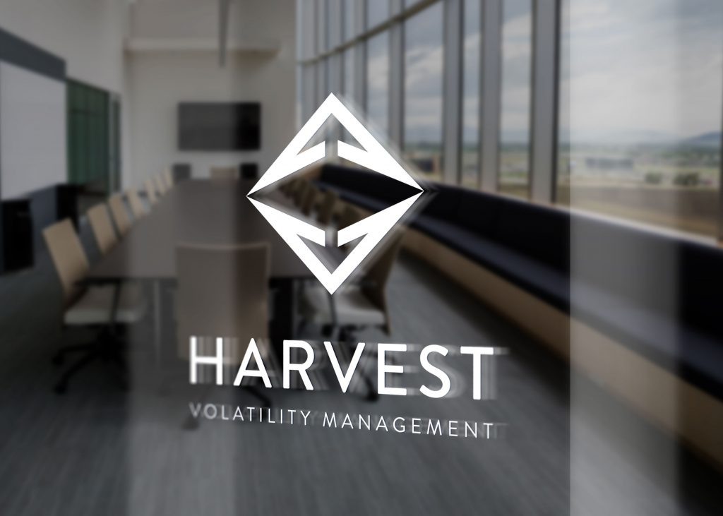 White Harvest logo displayed on a glass conference room door