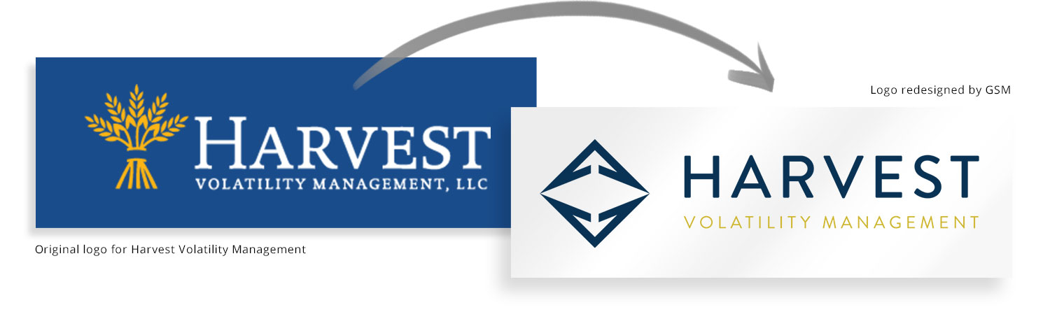 Harvest logo before and after redesign
