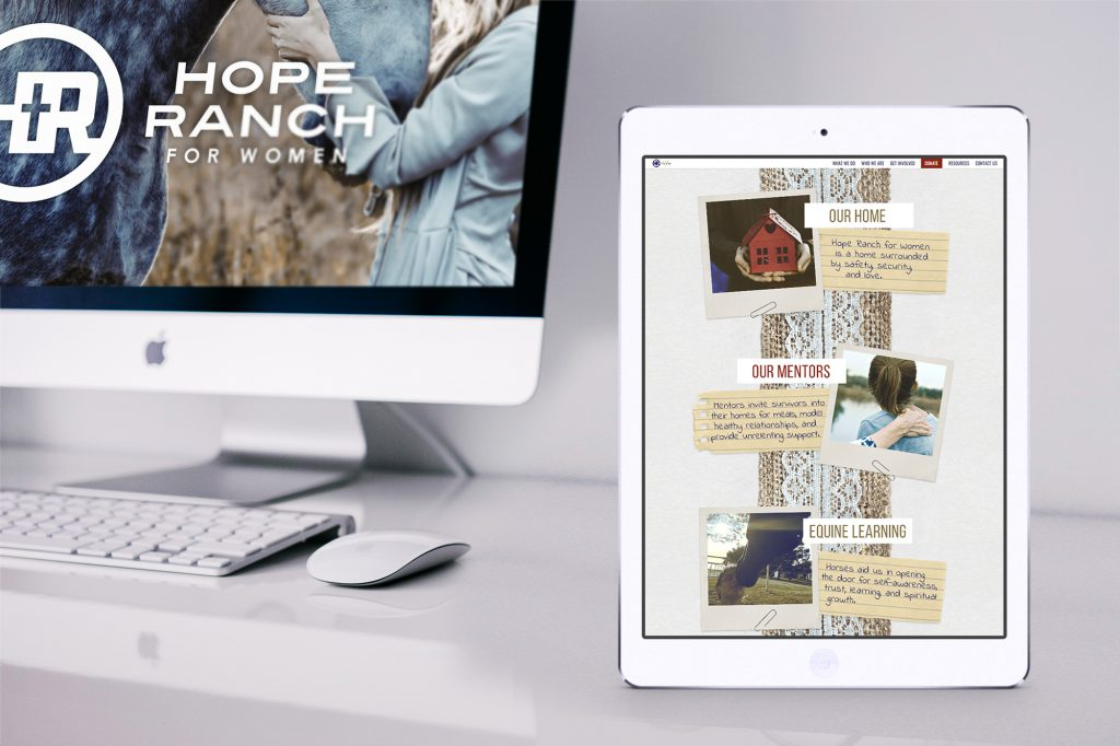 Detail view of a Hope Ranch webpage