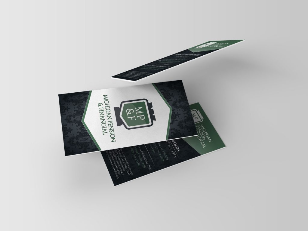 Michigan Pension custom business card design