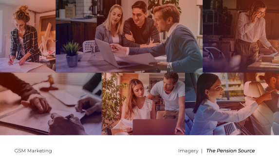 The Pension Source brand imagery plan