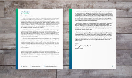 Photo of Donoghue Forlines corporate letterhead design