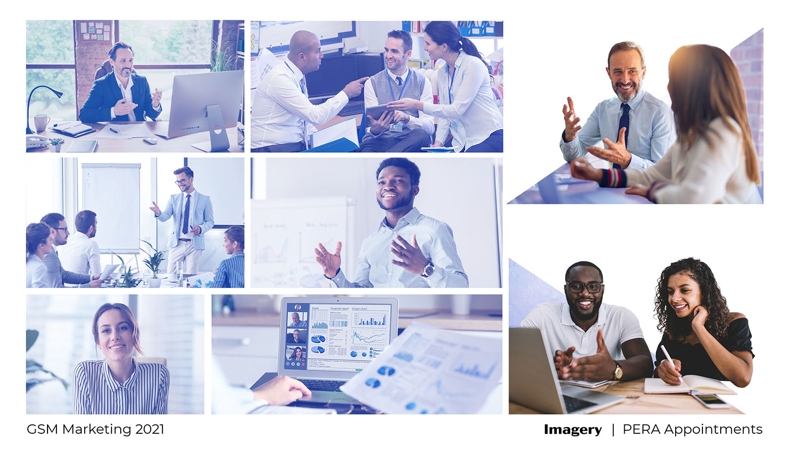 Concept slide: PERA Appointments brand imagery
