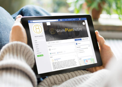 Work Plan Retire logo in use on a Facebook business profile