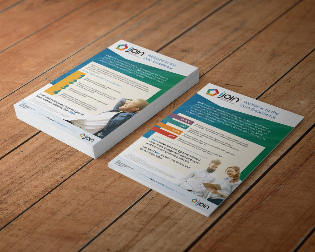 Stack of iJoin overview flyers