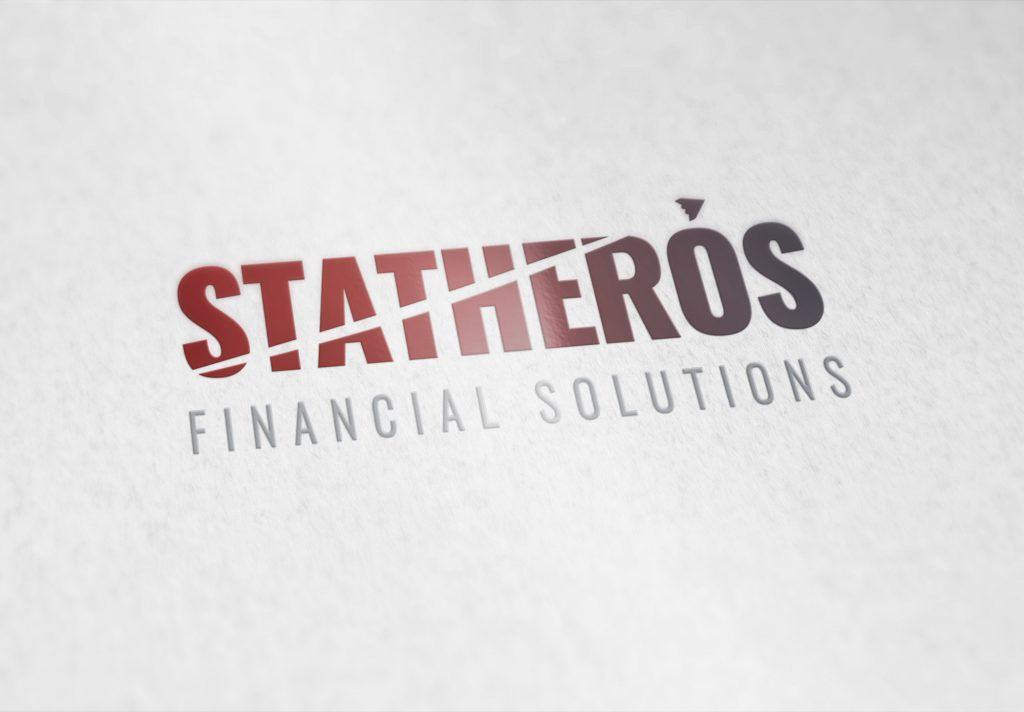 Statheros logo embossed onto high quality paper