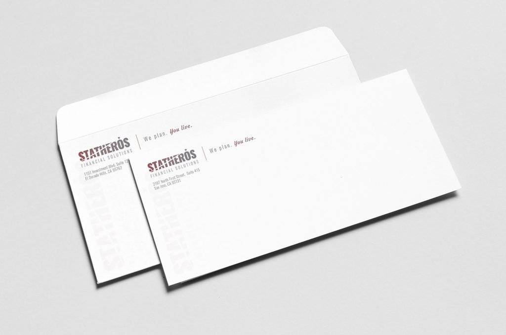 Statheros custom brand envelopes